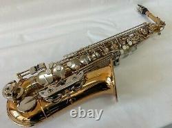 Or Professionnel Avec Des Clés D'argent Saxophone Alto Saxophone Sax Nouvelle Marque