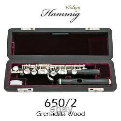Philipp Hammig Piccolo 650/2 Grenadilla Wood Livraison Ups Gratuite