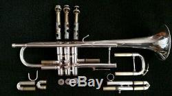 Plaqué Argent Kanstul 1537 Professional Trompette Avec Matelassée Housse