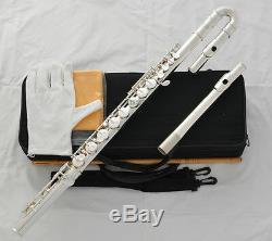 Plaqué Argent Professionnel Alto Flûte Traversière G Clé Droite Pad Courbe Headjoin Italienne
