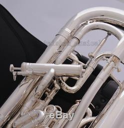 Plaqué Argent Professionnel Compenser Système Euphonium Cas Trigger & Pro