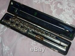 Powell Commercial Flûte, B Pied, Or Lip & Plate Riser, 1950, Plays Great