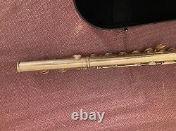 Powell Hj, Flûte Sior-champelain Corps En Argent Doré Allemand & Pied Plaqué Or 24k