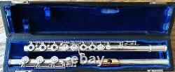Powell Professional Handmade Silver Flute Plaque À Lèvres En Or, #1875 Fabriquée En 1958