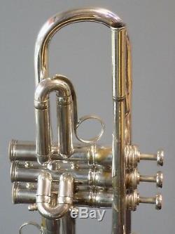 Pré-guerre De Plaqué Argent De 1930 Français Besson Brevete Trompette Ser. # 94951