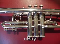Près De Bach Parfait Stradivarius 304 Eb (mi Bémol) Plaque Professionnelle Trompette D'argent
