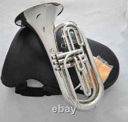 Prof. Jybt-e170 Bb Argent Nickel Marching Baryton 10.04'' Horn Luxarycase