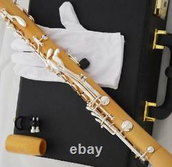 Professional Boxwood Clarinette En Bois Plaqué Argent 19 Clé Avec Boîtier