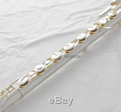 Professional New Silver Bass Flute C Key Off Set G Pad Italien Pad Avec Étui