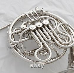 Professional Silver Nickel Placage Double Français Horn F/bb 4 Key With Case