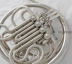 Professional Silver Nickel Plaqué Double Français Horn F/bb Key New With Case