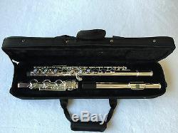 Professionnel 17 Argent Trou Ouvert Flûte Plaqué E Touche B Pied