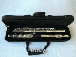 Professionnel 17 Trou Ouvert Flûte Plaqué Argent E Key B Pied