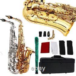 Professionnel Alto Eb Saxophone Sax E Flat Avec Porte-parole Cas & Accessoires Kits