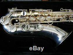 Professionnel B & S Medusa Tenor Saxophone Sl Modèle En Laiton D'or, 3 Cous Inclus