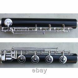 Professionnel Ebony Flûte Pied 4 Clés Diamètre Du Joint Intérieur 19,9 MM Fait À La Main