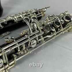 Professionnel Grenadilla Ebony Wooden Oboe C Key Silver Plaqué Avec Boîtier