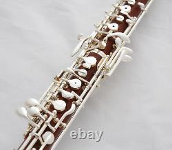 Professionnel Grenadilla Rose Bois Oboe Silver Placage C Key Leather Case