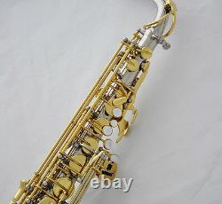 Professionnel Jinbao Straight Eb Alto Saxophone Saxophone Argent/or Saxophone De Cloche Courbé +case
