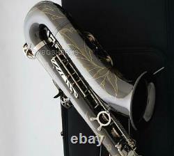 Professionnel Weibster Nouveau Bb Tenor Saxophone Black Nickel Silver Gravure Sax