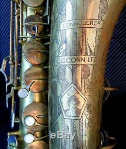 Rare Conn 30m Connqueror (luxe Et Amélioration De 10m) Femme Nue Pro Saxophone Ténor