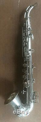 Rare! - Lyon & Healy Saxophone Soprano Tout Brillant - Forme Semi-incurvée - À La Menthe