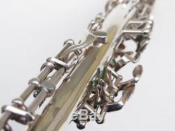 Rare Saxophone Soprano Sba Selmer. 100% Argent D'origine. Superbe! 1957