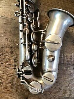 Rare Vintage 1920 Elkhart Sax Soprano Courbé