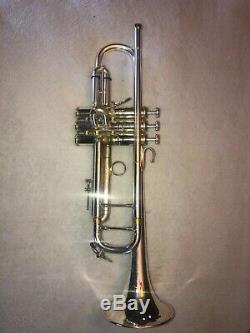 Rare! Vintage 1968 Bach Stradivarius Ml180-37 Trompette Argent / Or -excellente