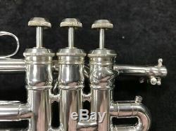 Restauré Couesnon Trompette Piccolo Monopole Étoiles À Silver Plate Série # 73410