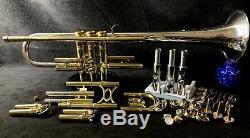 Roi Hn Blanc Vintage Ton Argent Bb Trompette 1949 Sterling Silver Bell, Case & Mp
