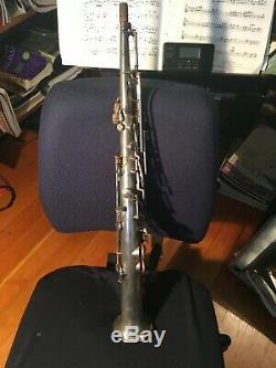 Roi Soprano Saxophone H. N. Blanc Co, Argent Plaqué Bb, Faible Hauteur