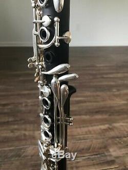 Rossi Clarinet Paire Mis Anglais Modèle Bois Plaqué Argent Professionnel