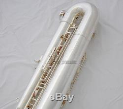 Saxophone Baryton Professionnel Plaqué Argent Saxophone Bari Façon Basse À Forte F # Nouvelle Affaire