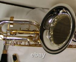 Saxophone Baryton Professionnel Silver Gold Sax Low Un Boîtier D'embout