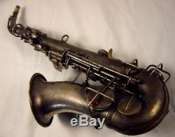 Saxophone Soprano Silver Argente Bb 1921 C. G. Conn Nouvel Professionnelle Professionnelle Bb