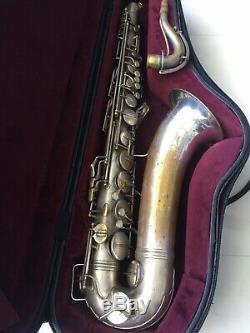 Saxophone Ténor Lady Conn Vintage Vintage Argenté 10 M, 1939 # 285xxx