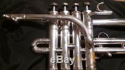 Schilke P5-4 Bb / A Piccolo Trompette, En Argent Plaqué