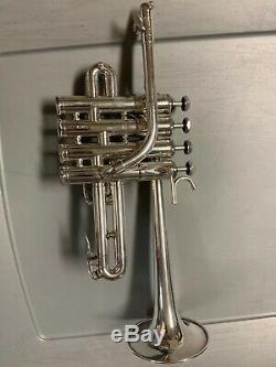 Schilke P5-4 Bb / A Piccolo Trumpet Argenté No No Dents Dings