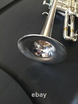 Schilke P5-4 Bb/a Piccolo Trumpet In Silver Plate Légèrement Utilisé Excellent Cond