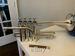 Schilke P5-4 Trompette Piccolo En Argent Plaqué No No Dents Dings