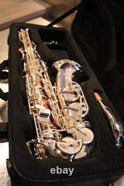 Selmer As42 Saxophone Professionnel Alto Argent Doux Utilisé Plaqué