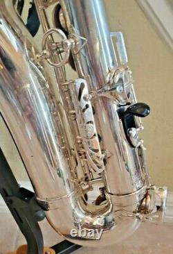 Selmer Mark VI 6 Alto Saxophone Silver Plaqué Récemment Révisé