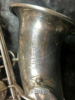 Selmer Mark VI Saxophone Alto À 5 Chiffres En Argent