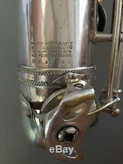 Selmer Saxophone Ténor Argent Original Numéro De Série 53498 En Parfait État