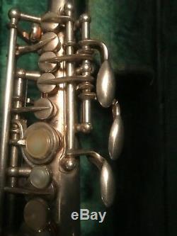Selmer Super Balance Original Silver Plate Sax Saxophone Soprano Sib 51xxx