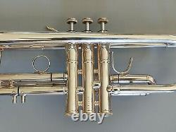 Silver Plated B&s Challenger 3137 Professional Trumpet Made In Germany With Case