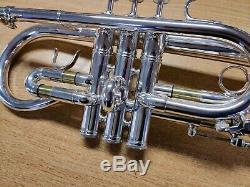 Smith-watkins Soliste Eb Soprano Cornet D'argent (instrument Utilisé)