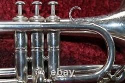 Soprano Cornet Besson Brevete Prototype Eb London Silver Cornet