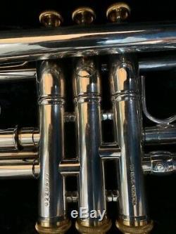 Stomvi Elite Professional Trompette En Métal Argenté Avec Étui D'origine